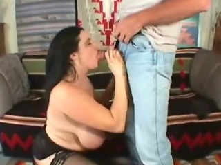 Mature bbw get facial load