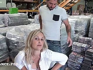 Aged French mother I'd like to fuck in warehouse sex porn dream