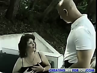 Mature Wife Gets Nasty Facial
