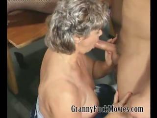 Granny party with a lot of dicks