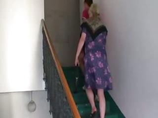 Naughty granny takes fresh cock