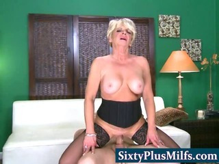 Hot 60 plus granny getting creamed