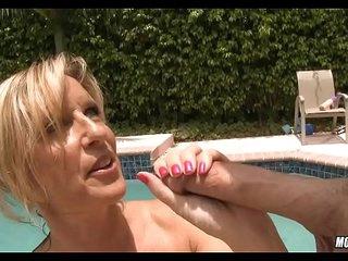 Pool Mom gets a Treat