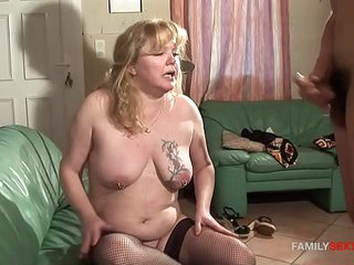 Step Son Plays With Mature Moms Gaping Asshole