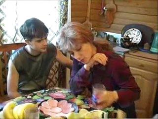 Elizabeth A - russian blonde mom fucks young boy